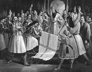 Греция начала свое возрождение и добилась независимости от турок вопреки воле российского императора