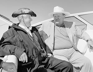 Президент России Борис Ельцин и президент Финляндии Мартти Ахтисаари