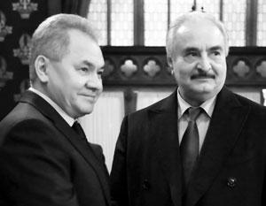 Чуть больше месяца прошло с предыдущей встречи Шойгу и Хафтара - 13 января они провели переговоры в Москве