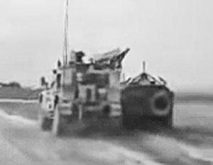 Американский патруль подрезал российскую бронемашину