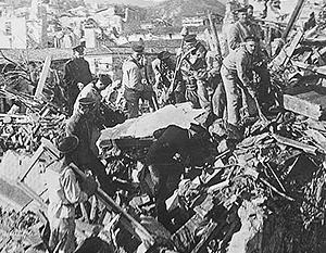 Русские моряки спасли тысячи людей, пострадавших от землетрясения в Мессине