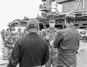 На авианосце «Теодор Рузвельт» идут проверки экипажа на коронавирус