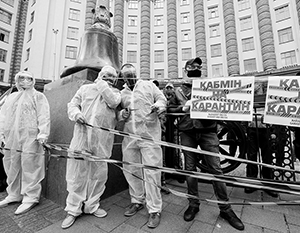 Карантинные меры породили на Украине массовые акции протеста