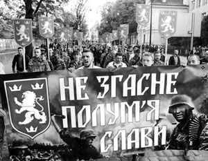 В западных районах Украины идеалы подразделений СС служат для воспитания патриотов