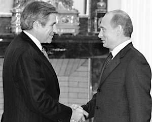 Президент Владимир Путин встретился в Кремле с главой Всемирного банка Полом Вулфовицем