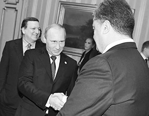 В начале своего правления Порошенко демонстрировал готовность договориться с Путиным