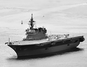 Эсминец-вертолетоносец «Изумо» сможет нести на себе истребительную авиацию