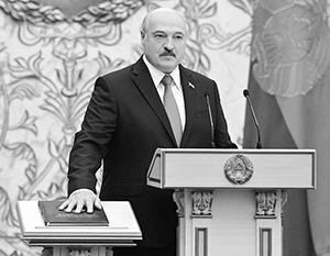 Президентскую клятву Лукашенко прочитал на белорусском языке