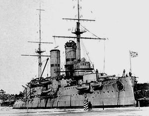 Броненосец «Слава» был одним из главных участников операции