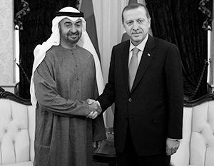 Наследный принц Абу-Даби Мохаммед бин Заид и президент Турции относятся друг к другу вовсе не так тепло, как кажется