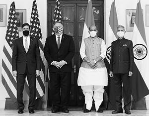 Визит высших американских чиновников в Индию прошел со всеми мерами предосторожности