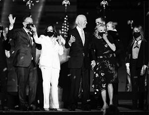 Джо Байден, его семья и соратники бурно радуются победе