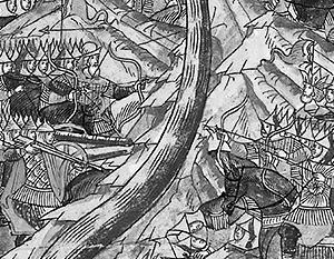 Старые изображения сохранили каноническую версию тех событий