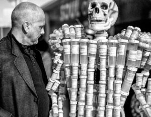 Инсталляция из оксиконтина – самого известного препарата от Саклеров, погубившего десятки тысяч людей
