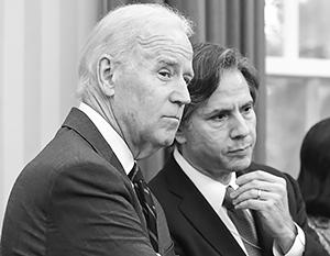 Энтони Блинкен (справа) давно занимается вопросом антироссийских санкций