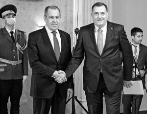 Сергей Лавров в итоге встретился только с Милорадом Додиком