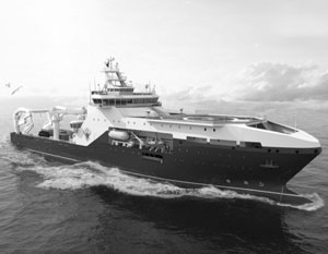 Проектное изображение научно-исследовательского судна пр.123
