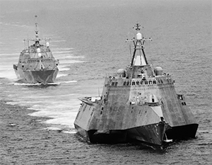 На фото: два корабля одного класса LCS – USS Independence и USS Freedom