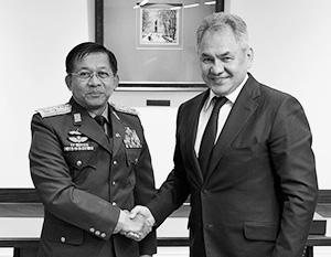 Власть в Мьянме перешла в руки главнокомандующего ВС Мин Аунг Хлайна, который хорошо знаком с Сергеем Шойгу