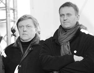 Во время белоленточных протестов Явлинский и Навальный стояли плечом к плечу