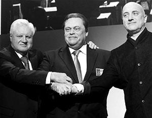 Сергей Миронов, Геннадий Семигин и Захар Прилепин объединили свои партии ради успеха на выборах в Госдуму