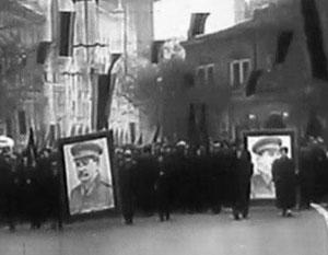 Митинги с портретами Сталина шли по всему Тбилиси