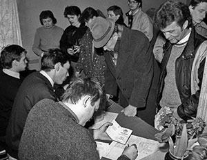 В разных концах СССР референдум происходил по-разному