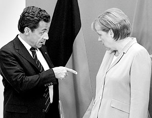 Николя Саркози и Ангела Меркель