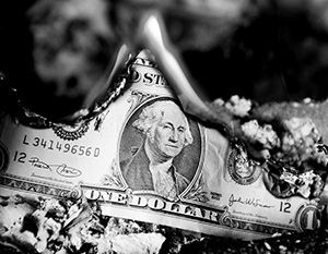 В 1993 году доля доллара в мировых резервах падала до 45%