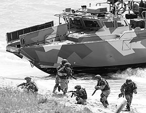 Частью масштабных учений стала отработка высадки десанта на побережье