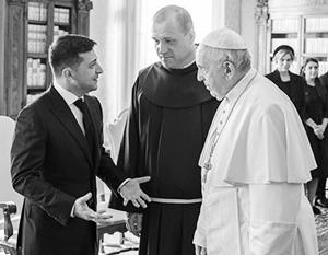 Владимир Зеленский рассчитывает на папу Римского