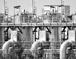 Объекты газопровода «Ямал – Европа» в городе Цеханув в Польше
