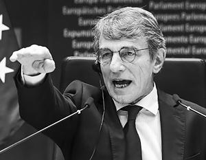 Глава Европарламента Давид Сассоли счел российские контрсанкции «атакой на европейскую демократию»