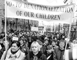 Поляки активно протестуют против национальной политики Литвы