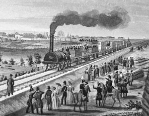 Так выглядел первый железнодорожный маршрут в России