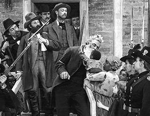 Фрагмент картины Томаса Ховендена «Последние минуты Джона Брауна»