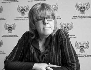 Майя Пирогова в прошлом работала в министерстве информации ДНР