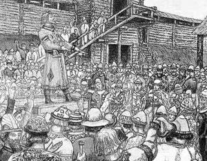 Во времена Киевской Руси ключевые решения принимало состоявшее из старейшин вече