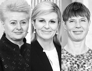 Экс-президент Литвы Грибаускайте, экс-президент Хорватии Грабар-Китарович и президент Эстонии Кальюлайд