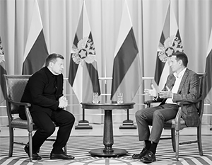 Сергей Нарышкин дает интервью Владимиру Соловьеву