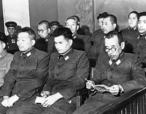 1949 год, Хабаровский процесс. Обвиняемые на скамье подсудимых