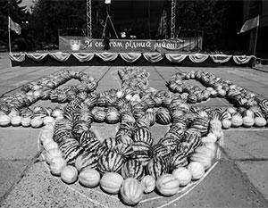 Тризуб из арбузов – один из украинских рекордов последнего времени