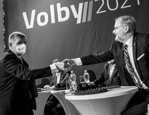 Премьер-министр Чехии Андрей Бабиш и лидер коалиции «Вместе» Петр Фиала