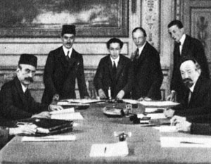 Церемония подписания Карсского договора