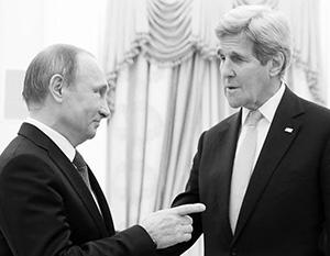 Во время одной из встреч Путина и Керри российский лидер предложил США включиться в решение украинского вопроса
