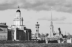Вид на стрелку Васильвского острова