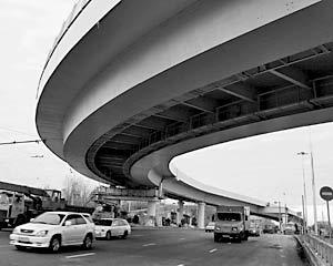 На пересечении Третьего транспортного кольца с Ленинградским проспектом и Новослободской улицей открыты новые развязки