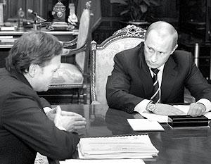 Президент России Владимир Путин на встрече с руководителями