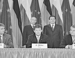 Подписание принципиального соглашения о строительстве «Северо-Европейского газопровода»