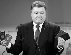 Порошенко говорит об усилении украинского гражданства, но очередей за украинскими паспортами не наблюдается
